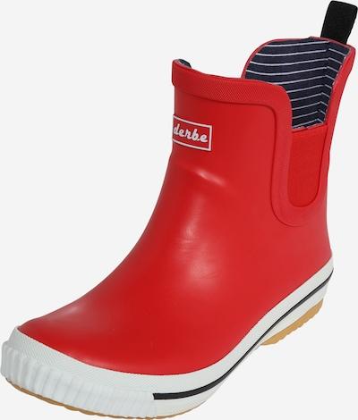 Derbe Bottes en caoutchouc en rouge, Vue avec produit