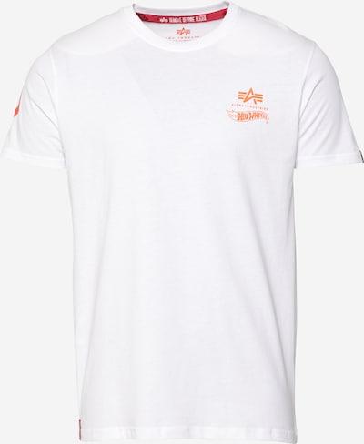 sárga / narancs / fehér ALPHA INDUSTRIES Póló 'Flame', Termék nézet