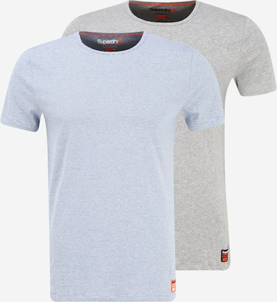 Superdry Onderhemd in de kleur Lichtblauw / Grijs / Wit, Productweergave