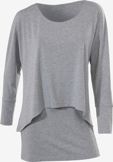 heine Rundhalsshirt in graumeliert: Frontalansicht