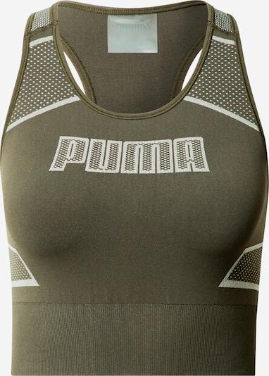 PUMA Sporttopp i mörkgrön / vit, Produktvy