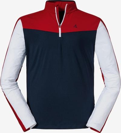 Schöffel Funktionsshirt in navy / rot / weiß, Produktansicht