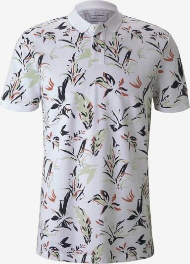 TOM TAILOR DENIM Poloshirt in braun / grün / schwarz / weiß, Produktansicht