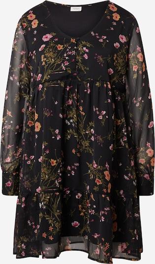 JDY Robe-chemise 'MOLLY' en olive / orange / rose / noir, Vue avec produit
