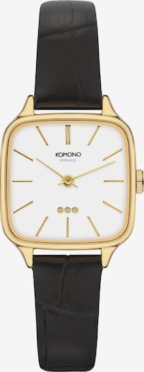 Komono Uhr in gold / schwarz / weiß, Produktansicht
