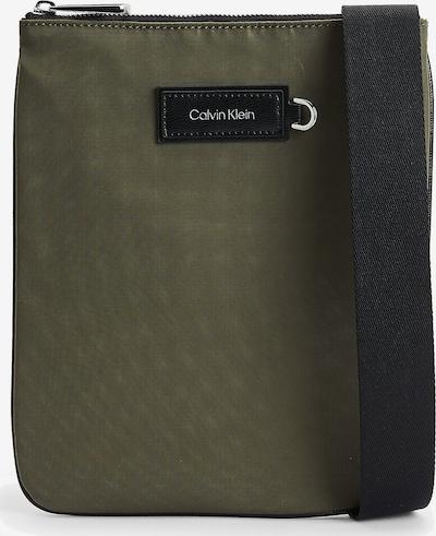 Calvin Klein Sac à bandoulière en gris clair / vert foncé / noir, Vue avec produit