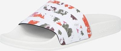 ADIDAS ORIGINALS Pantolette 'Adilette' in rosé / rot / schwarz / weiß, Produktansicht