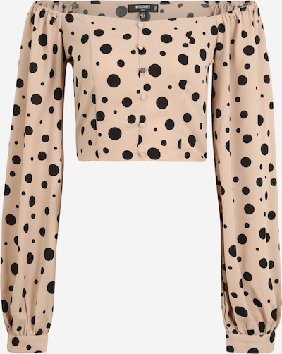 Missguided (Tall) Bluse  'POLKA DOT' in beige / schwarz, Produktansicht