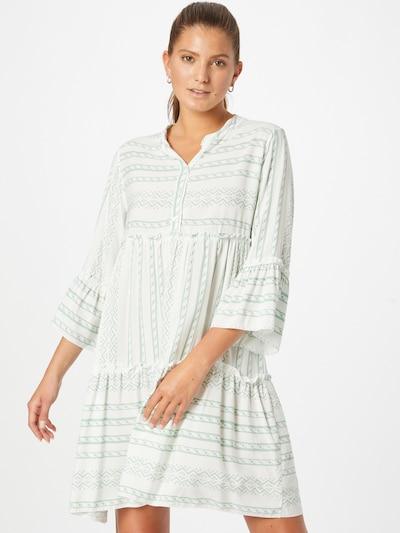 Rochie tip bluză 'Lisa' ZABAIONE pe verde / alb, Vizualizare model