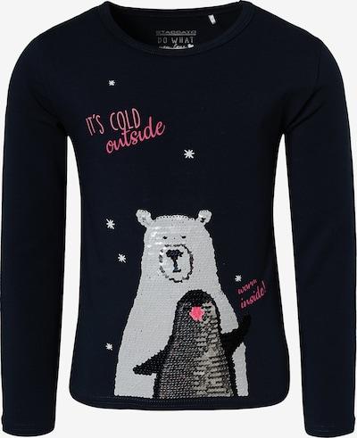 STACCATO Shirt in nachtblau / hellgrau / rosé / schwarz, Produktansicht