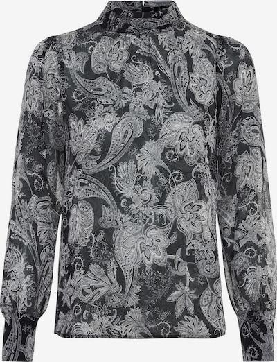 HALLHUBER Bluse in hellgrau / dunkelgrau, Produktansicht