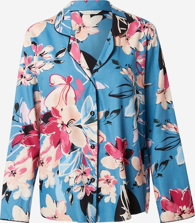Cyberjammies Schlafshirt 'Hannah' in blau / pink / rosa / schwarz / weiß, Produktansicht