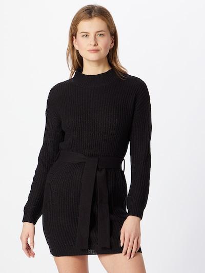 Missguided Stickad klänning i svart, På modell