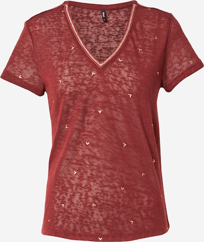 ONLY Shirt 'STEPHANIA' in de kleur Beige / Donkerrood, Productweergave