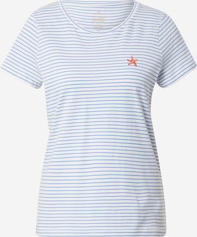 TOM TAILOR T-shirt en bleu clair / orange / blanc, Vue avec produit