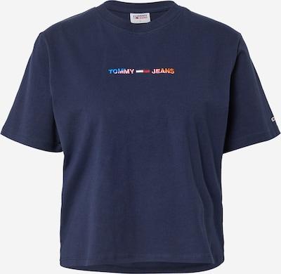 Tricou Tommy Jeans pe albastru / albastru noapte / portocaliu / roz deschis / roșu, Vizualizare produs