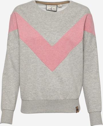 Fli Papigu Sweatshirt 'Handyvertrag anderer Name' in Grau