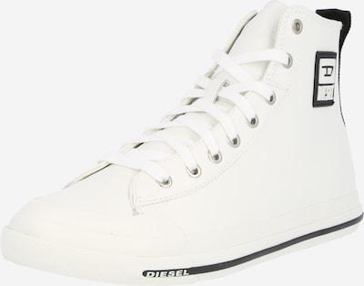 DIESEL Baskets hautes 'S-ASTICO' en noir / blanc, Vue avec produit