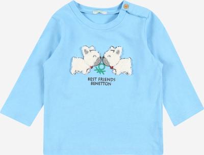 UNITED COLORS OF BENETTON Camiseta en turquesa / gris / verde / blanco, Vista del producto