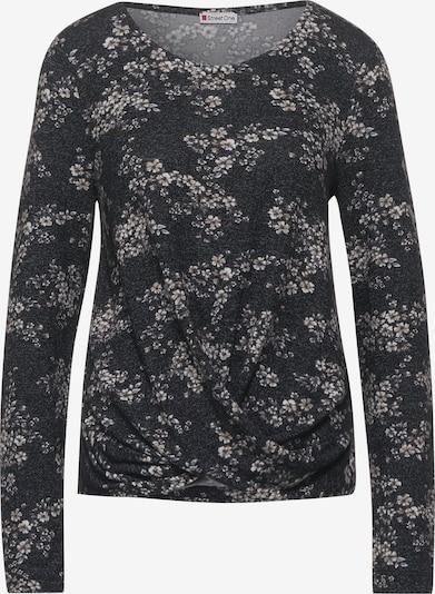 STREET ONE Shirt in grau / schwarz, Produktansicht