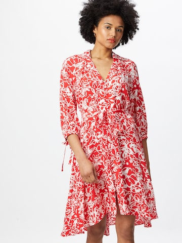 FRENCH CONNECTION Shirt Dress 'FAYOLA' in Red