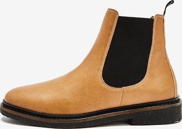 NINE TO FIVE Chelsea Boots 'Luka' in Brown