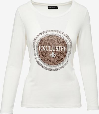 Decay Langarmshirt in braun / weiß, Produktansicht