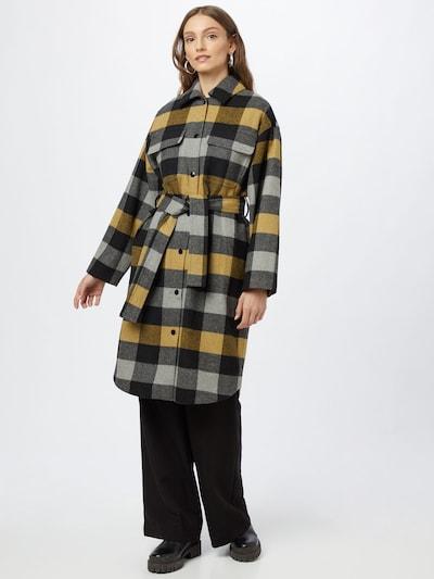 InWear Prijelazni kaput 'Tuva' u senf / siva / crna, Prikaz modela