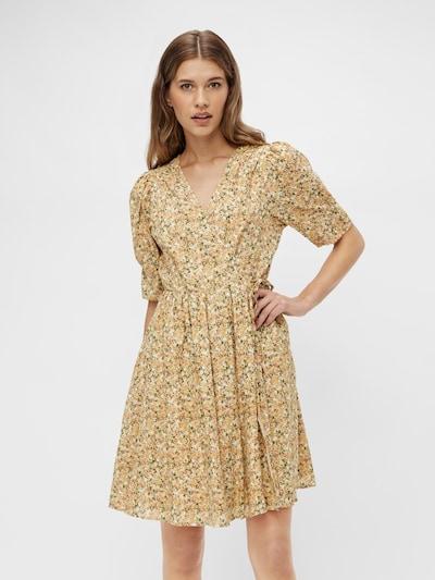 Y.A.S Kleid 'Lagi' in beige / goldgelb / grasgrün / rosé: Frontalansicht