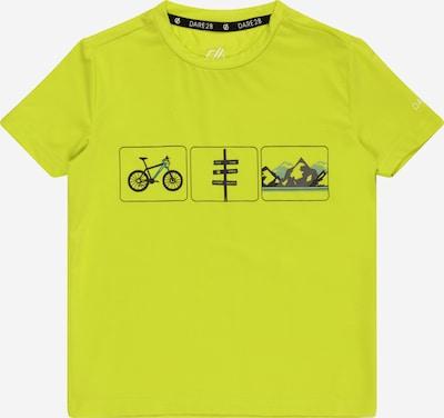 DARE2B T-Shirt 'Rightful' in rauchblau / limette / schwarz, Produktansicht