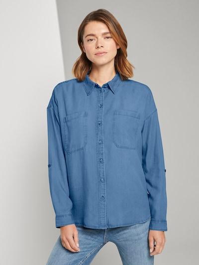 TOM TAILOR DENIM Blouse in de kleur Blauw, Modelweergave