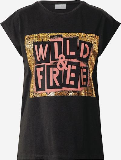 VILA Camiseta en oro / rosa / negro, Vista del producto