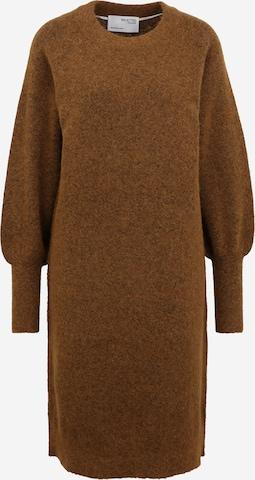 Selected Femme Tall Kootud kleit 'SIF KAYA', värv pruun