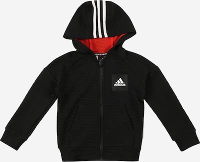 Giacca di felpa sportiva ADIDAS PERFORMANCE di colore nero / bianco, Visualizzazione prodotti