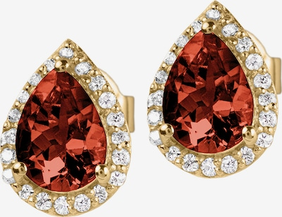 Jacques Lemans Earrings in Gold / Red, Item view