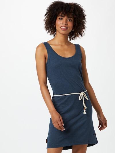 Alife and Kickin Kleid 'Jennifer' in taubenblau / koralle / weiß, Modelansicht