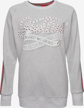 Superdry Sweatshirt 'Hard Wearing Boutique' in Grey