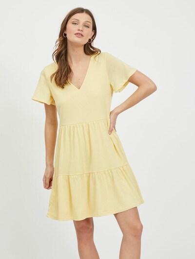 VILA Robe 'Natalie' en jaune clair, Vue avec modèle