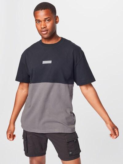 Abercrombie & Fitch T-Shirt en gris / gris clair / noir: Vue de face