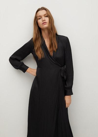 MANGO Kleid pasq-a in schwarz, Modelansicht
