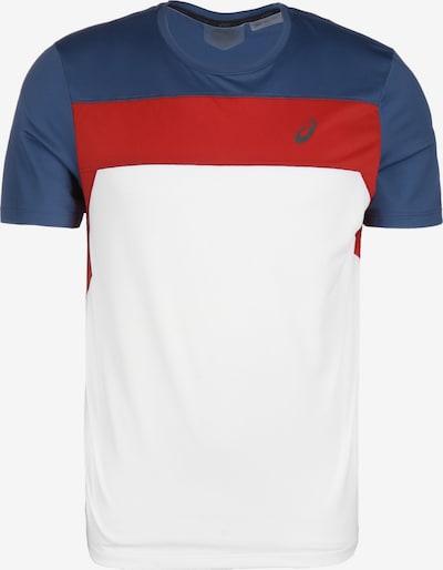 ASICS T-Shirt fonctionnel en bleu-gris / rouge foncé / blanc, Vue avec produit