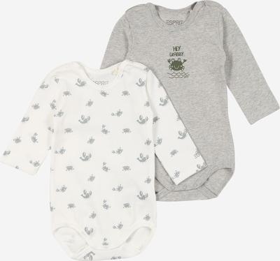 ESPRIT KIDS Body in graumeliert / dunkelgrün / weiß, Produktansicht