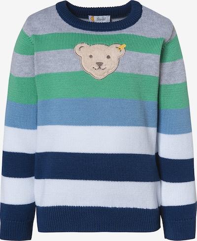 STEIFF Pullover in blau / grau / grün / weiß, Produktansicht