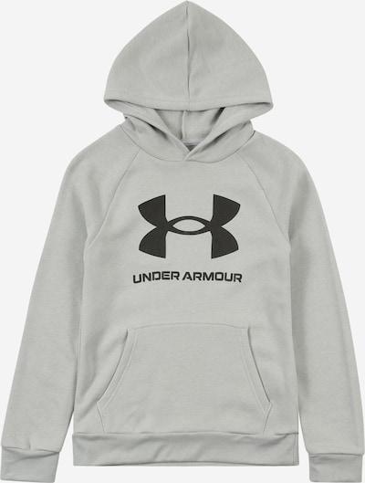 UNDER ARMOUR Sportiska tipa džemperis 'RIVAL', krāsa - pelēks / melns, Preces skats
