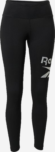 REEBOK Sports trousers in black / silver, Item view