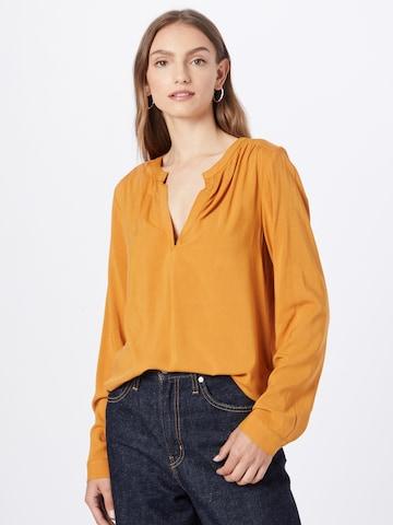 ICHI Bluse i brun