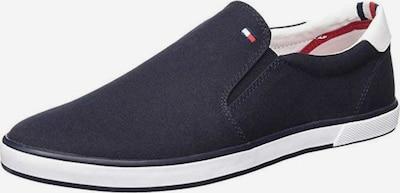 TOMMY HILFIGER Zapatillas sin cordones en azul noche / blanco, Vista del producto