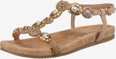 Alma En Pena Sandale in camel / sand / gold / silber, Produktansicht
