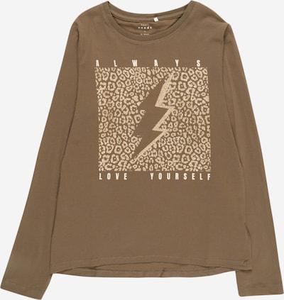 NAME IT T-Shirt 'VIX' en or / olive / blanc, Vue avec produit