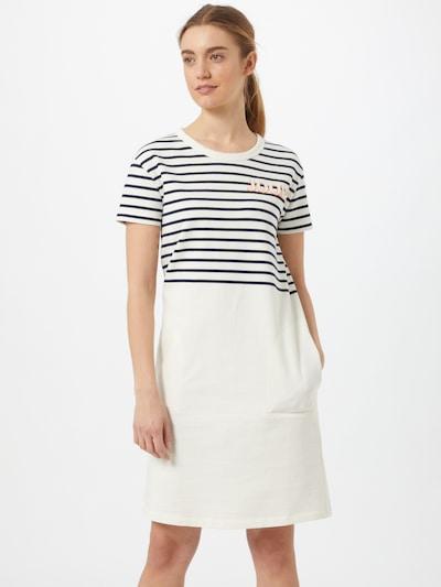 JOOP! Kleid 'Trina' in dunkelblau / orange / weiß, Modelansicht